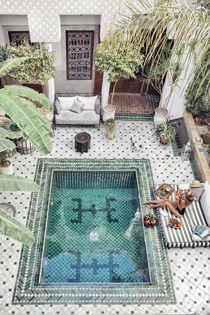 яркость маракканского стиля в ландшафтном дизайне