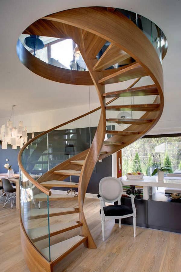 Винтовые лестницы в sip доме
