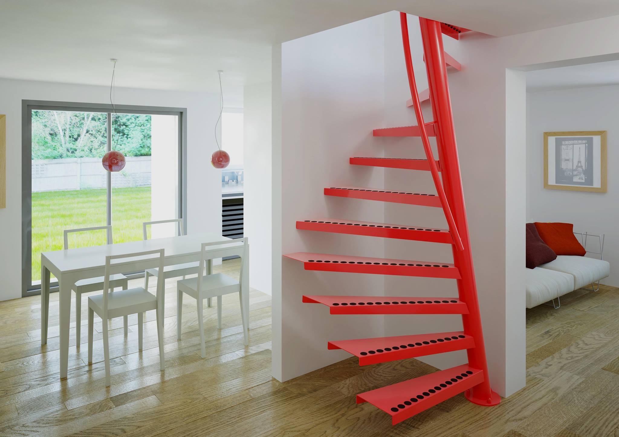 Лестница из металла для канадского дома