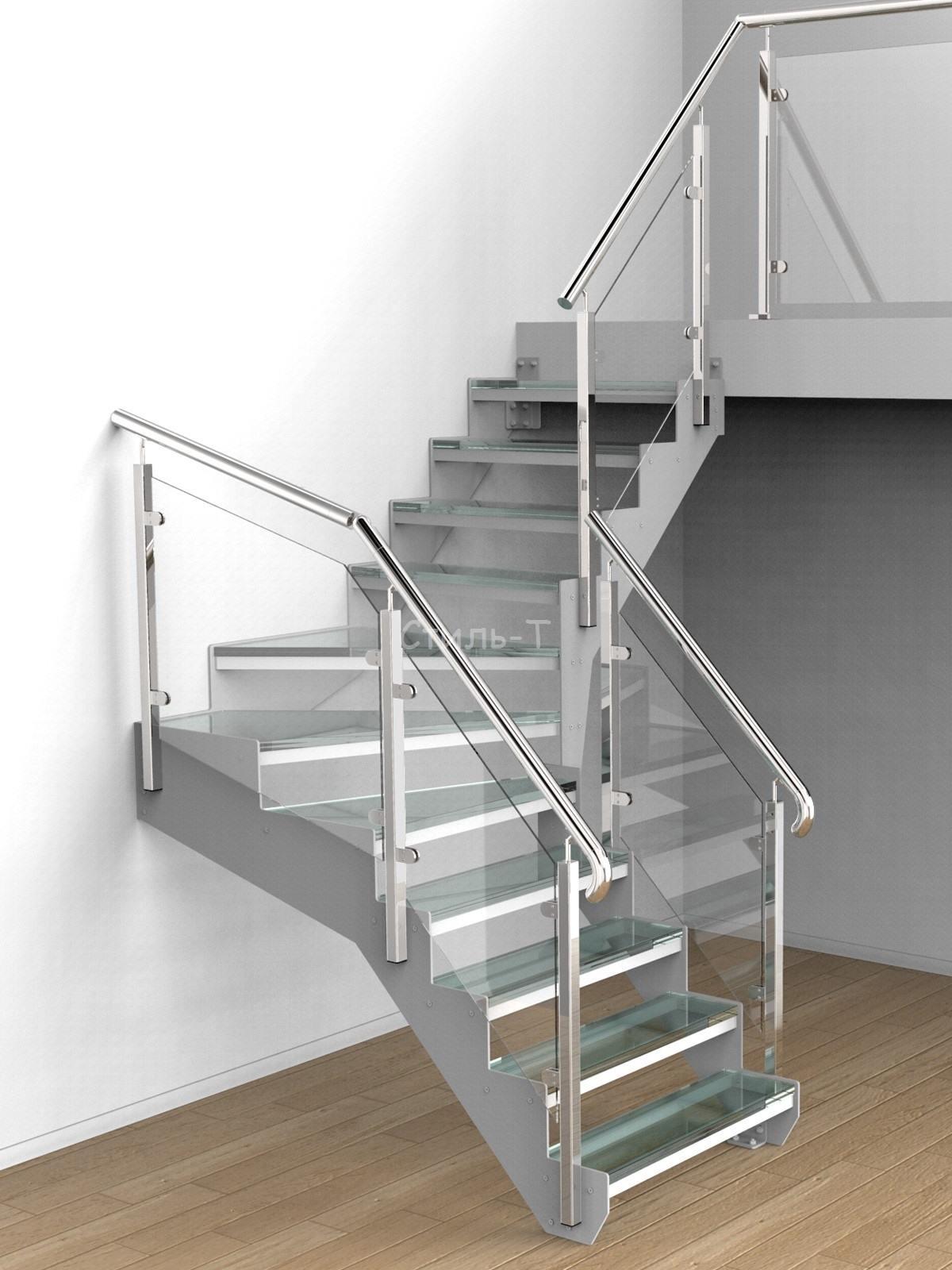 Поворотные лестницы Г-образной формы