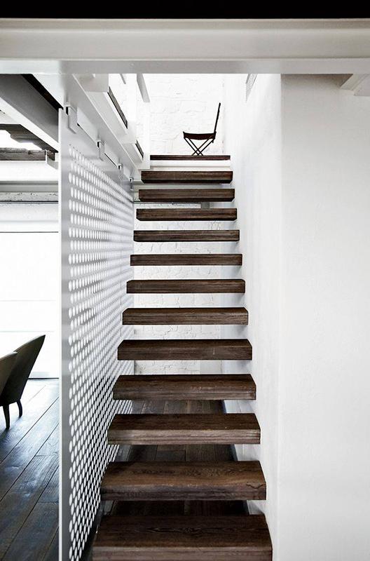 Открытый тип ступеней в лестницах