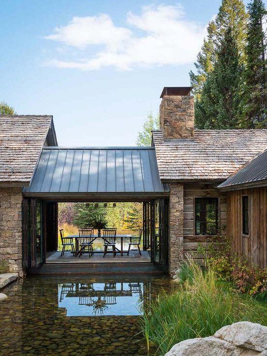 крыша з комбинированных материалов