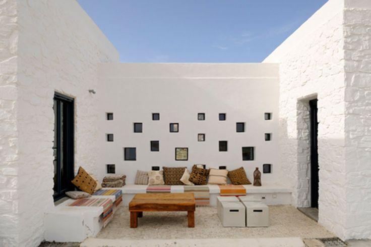 внутренний дворик в средиземноморском доме