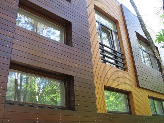 планкен фасад для сип дома