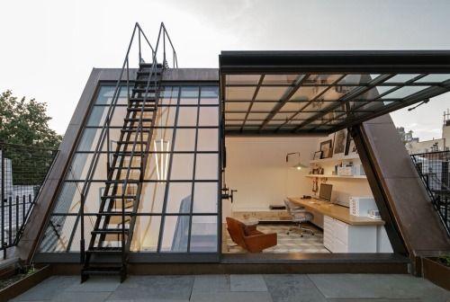 мансардная крыша с террасой