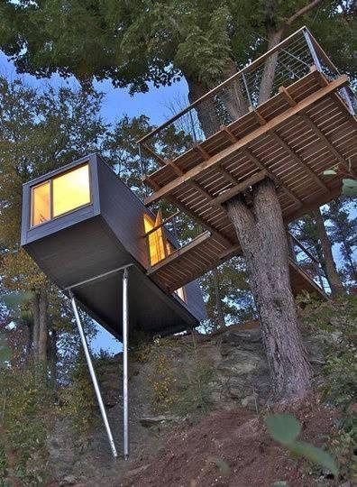 дом на столбах