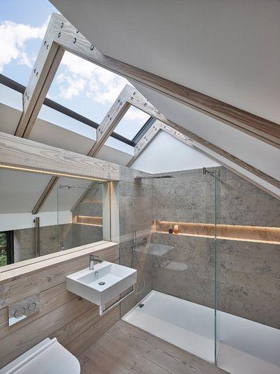 ванна в мансарде
