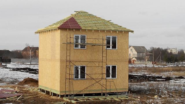 дом по канадской технологии зимняя стройка