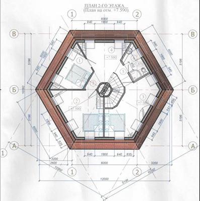 проект гексагонального sip дома