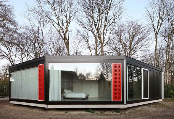 модерн стиль в гексагонального sip дома