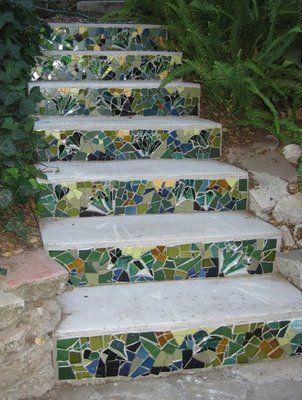 красивая садовая дорожка ступеньки
