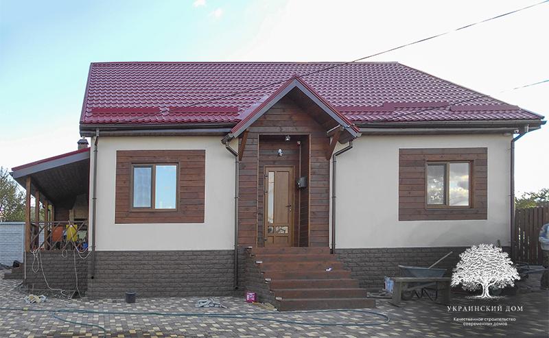 """Канадский дом из сип панелей - объект компании """"Украинский дом"""" в Днепропетровске - дом полностью готов снаружи и внутри!"""