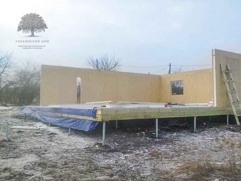 """Канадский дом из сип панелей - объект компании """"Украинский дом"""" в Днепропетровске - возведение стен из сип панелей"""