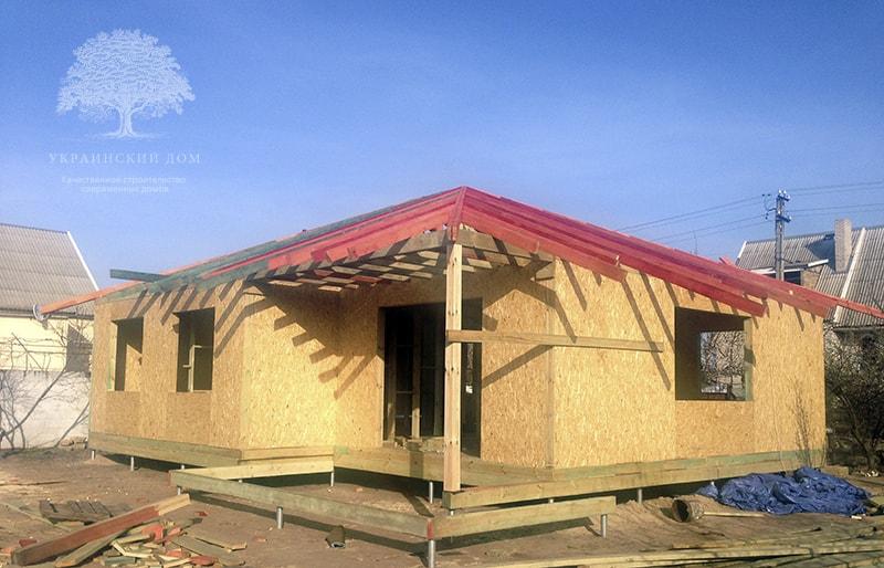 """Канадский дом из сип панелей объект компании """"Украинский дом"""" Каховка Солнечная - стропильная система"""