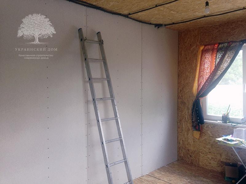 """Канадский дом из сип панелей объект компании """"Украинский дом"""" Каховка Солнечная - внутренние работы"""