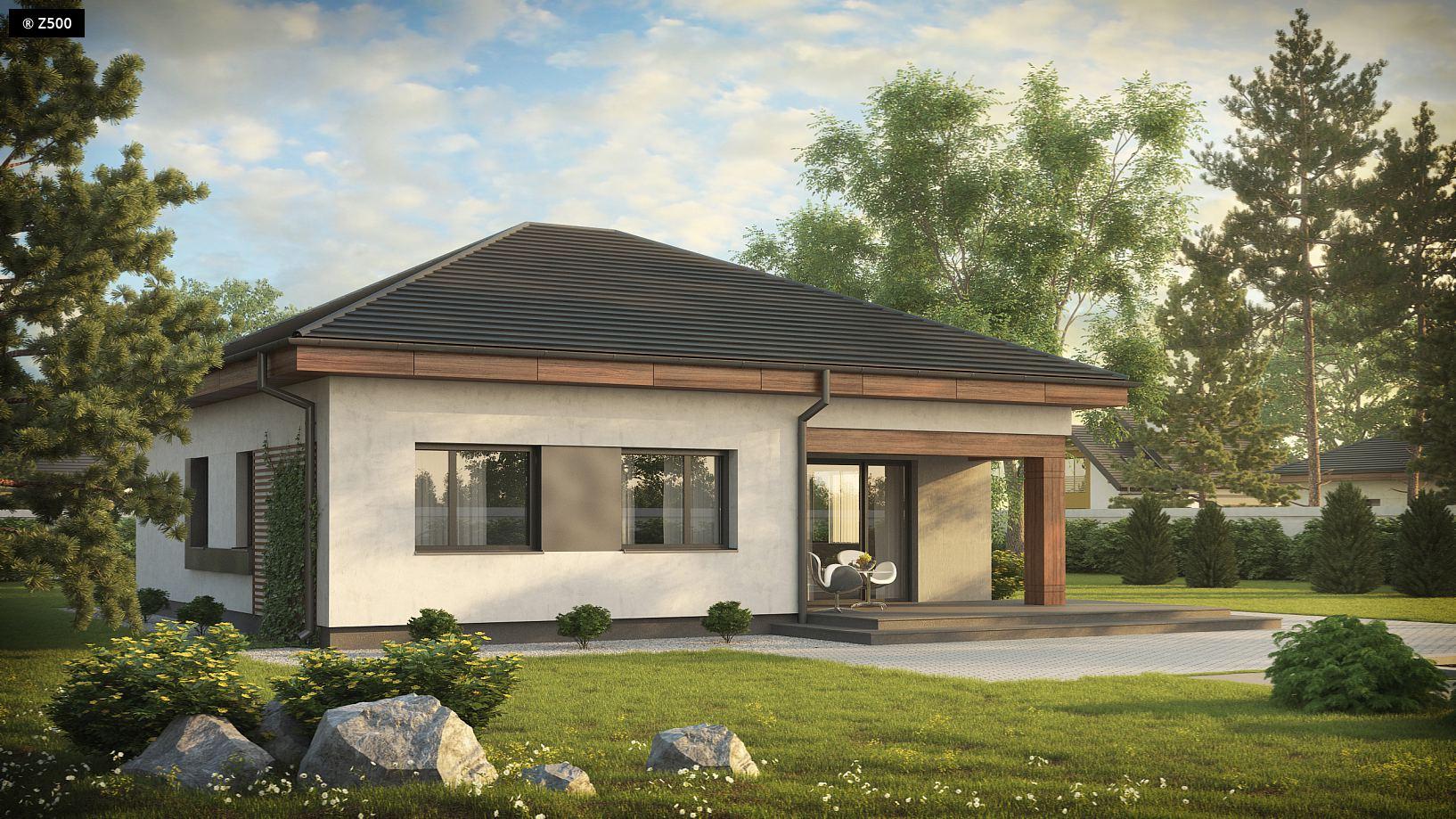 визуализация дома из сип панелей Каховка Солнечная компании Украинский дом