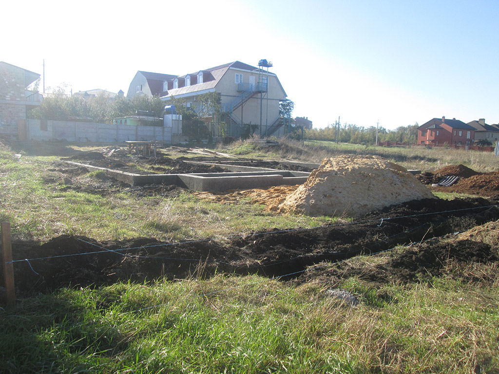 """Канадский дом из сип панелей - объект компании """"Украинский дом"""" в Юрьевке - фундамент"""