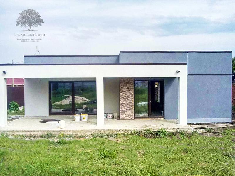 """Канадский дом из сип панелей - объект компании """"Украинский дом"""" в Юрьевке - готовый фасад"""