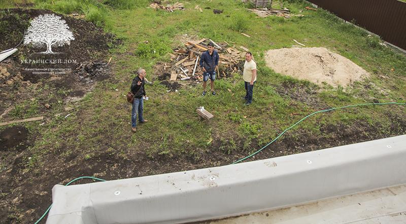 """Вид с плоской крыши - Канадский дом из сип панелей в Юрьевке - Готовые объекты строительной компании """"Украинский дом"""""""
