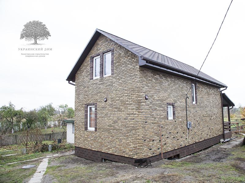 """Готовый фасад - вид на заднюю часть дома - канадский дом из сип панелей в Миргороде - готовые объекты строительной компании """"Украинский дом"""""""
