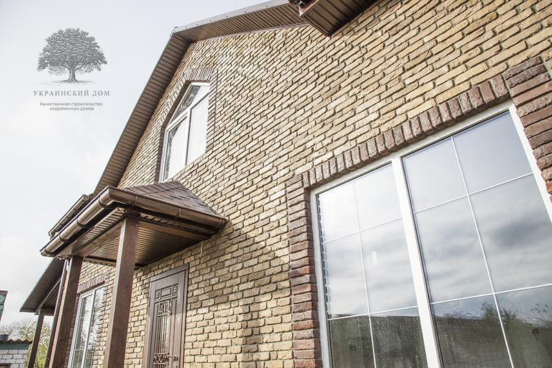 """Окна со шпросами - канадский дом из сип панелей в Миргороде - готовые объекты строительной компании """"Украинский дом"""""""