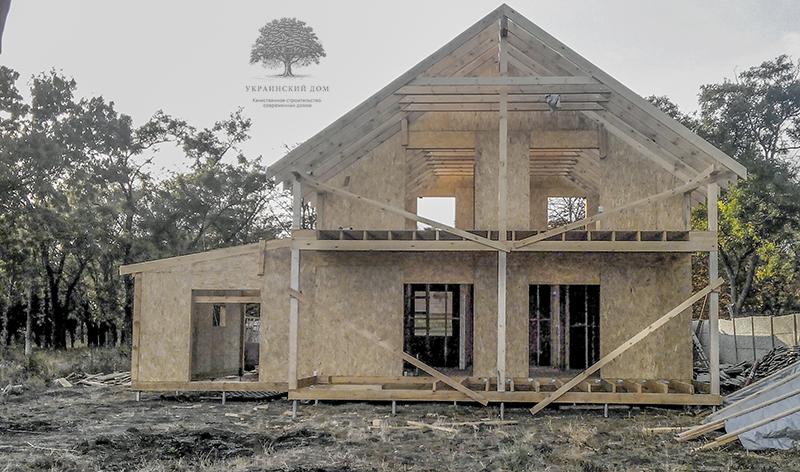 """Канадский дом из сип панелей - объект компании """"Украинский дом"""" в с. Курортное - sip дом в процессе строительства"""