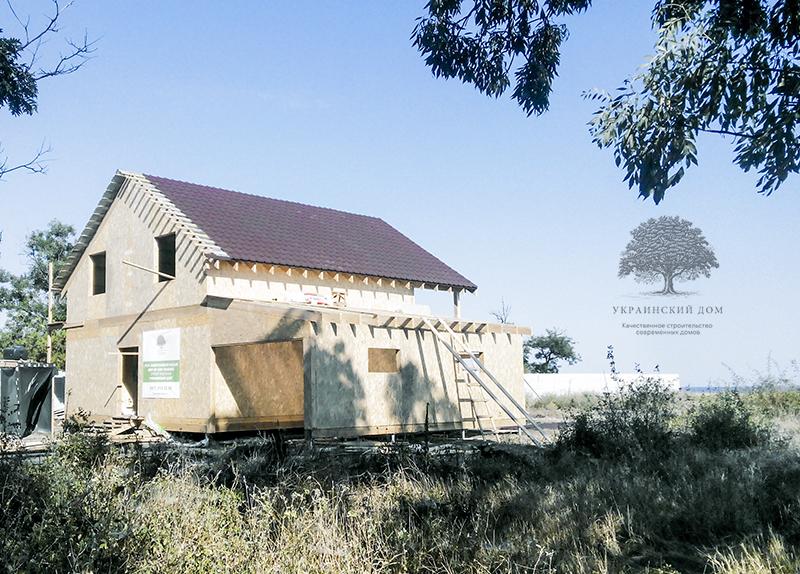 """Канадский дом из сип панелей - объект компании """"Украинский дом"""" в с. Курортное - крыша почти готова!"""