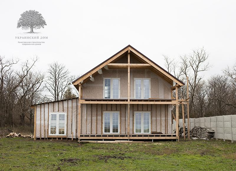 """Канадский дом из сип панелей - объект компании """"Украинский дом"""" в с. Курортное - дом готов в комплектации """"Закрытый дом"""""""