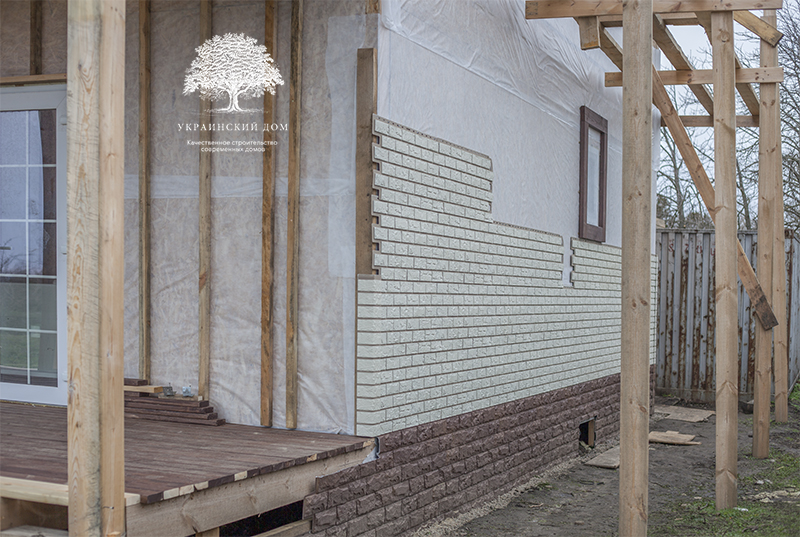 """Канадский дом из сип панелей - объект компании """"Украинский дом"""" в с. Курортное - начало фасадных работ"""