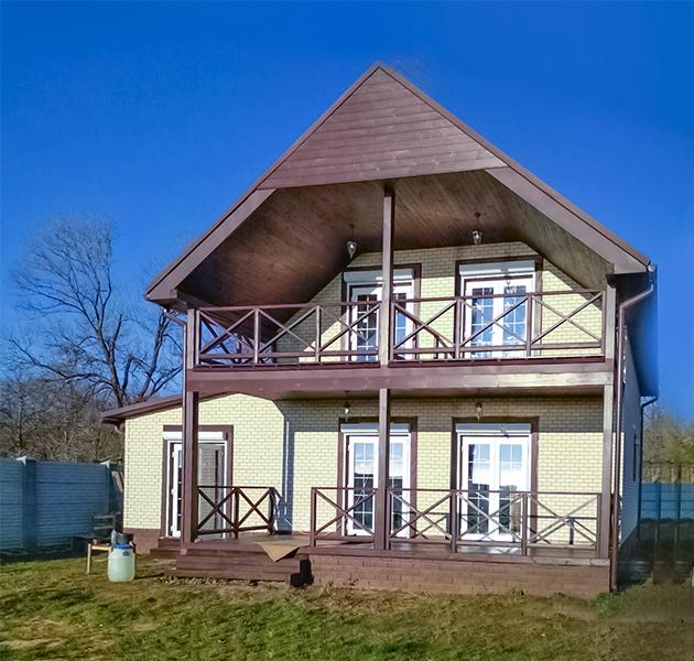 """Канадский дом из сип панелей - объект компании """"Украинский дом"""" в с. Курортное"""