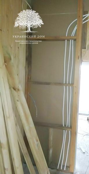 """Канадский дом из сип панелей - объект компании """"Украинский дом"""" в с. Курортное - так разводится проводка в sip доме"""