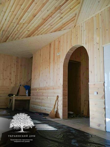 """Канадский дом из сип панелей - объект компании """"Украинский дом"""" в с. Курортное - дом под ключ внутри"""