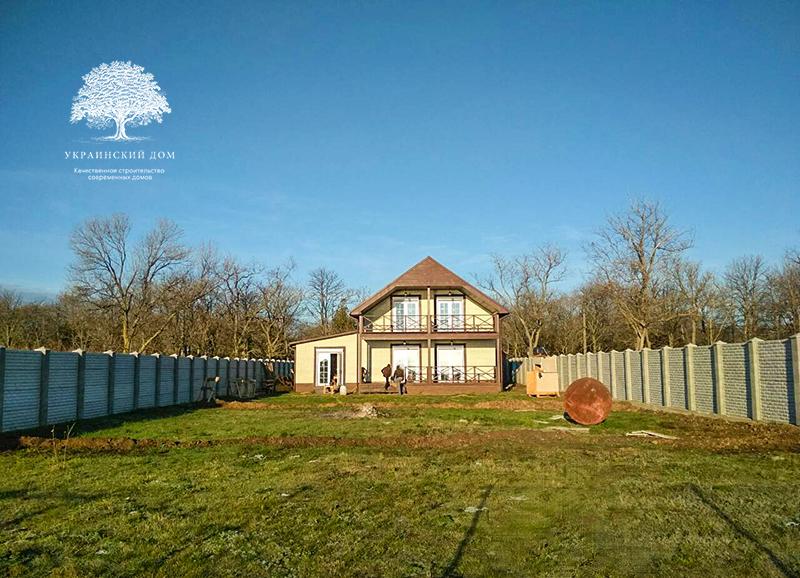 """Канадский дом из сип панелей - объект компании """"Украинский дом"""" в с. Курортное - дом готов! Осталось облагородить участок."""