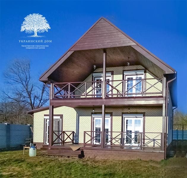 """Канадский дом из сип панелей - объект компании """"Украинский дом"""" в с. Курортное - готовый дом вид с моря"""