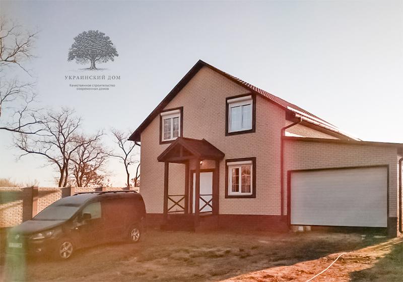 """Канадский дом из сип панелей - объект компании """"Украинский дом"""" в с. Курортное - фасад готового дома вид с улицы"""