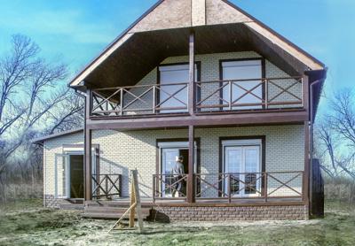 """Канадский дом из сип панелей - объект компании """"Украинский дом"""" под Одессой"""