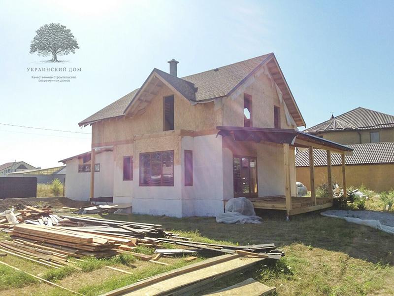 """Канадский дом из сип панелей - объект компании """"Украинский дом"""" в Запорожье - дом в процессе строительства"""