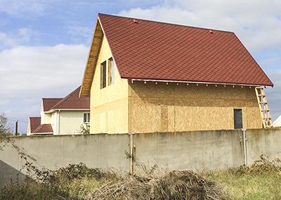"""Канадский дом из сип панелей - объект компании """"Украинский дом"""" в Мелитополе"""