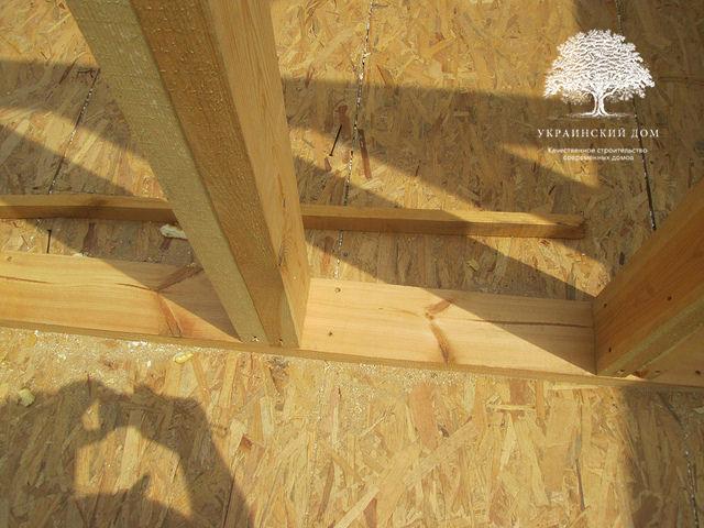 Канадский дом под ключ из сип панелей в Запорожье - каркас межкомнатных перегородок из бруса