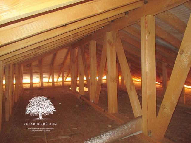 Канадский дом под ключ из сип панелей в Запорожье - чердак