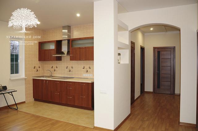 Канадский дом под ключ из сип панелей в Запорожье - готовый дом Кухня