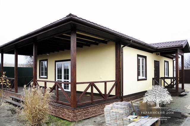Канадский дом под ключ из сип панелей в Запорожье - готовый дом