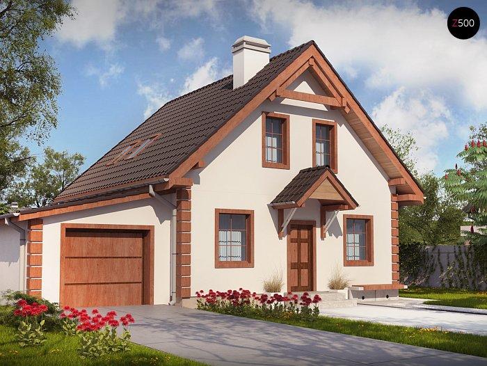 Проекта СИП дома  Z1 GL - фото фасада