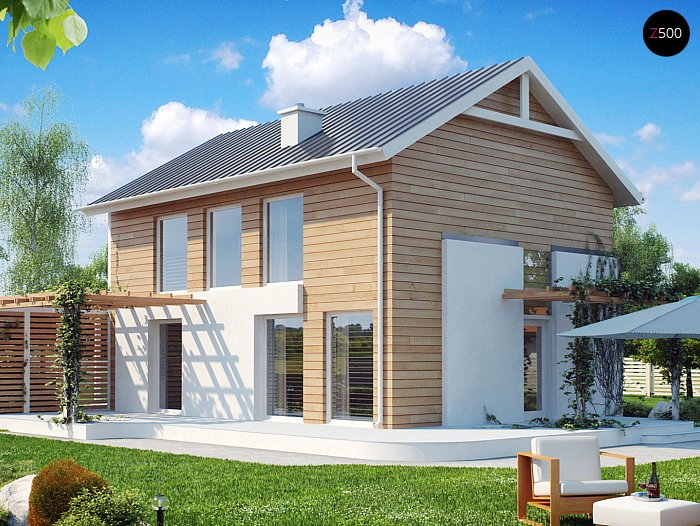 Проекта СИП дома Z115 - фото фасада