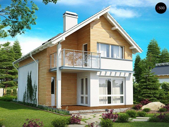 Проект СИП дома Z137 - фото фасада