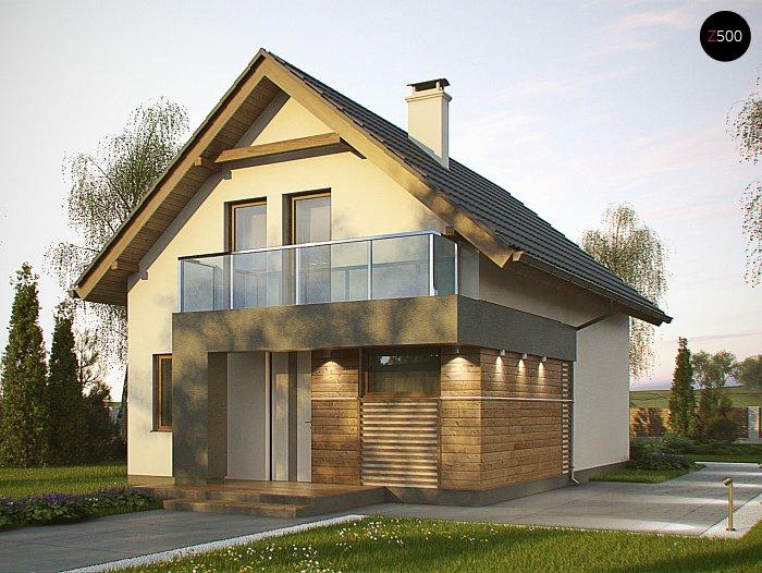 Проекта СИП дома Z174 - фото фасада