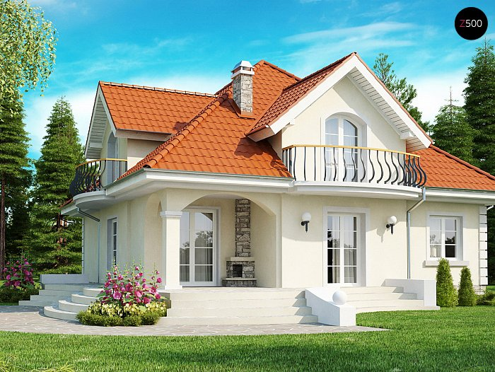 Проект СИП дома Z18 - фото фасада