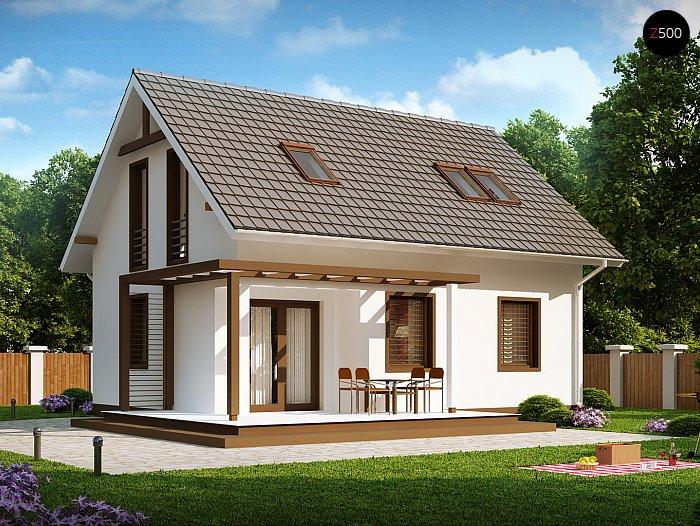 Проект СИП дома Z 212 - фото фасада
