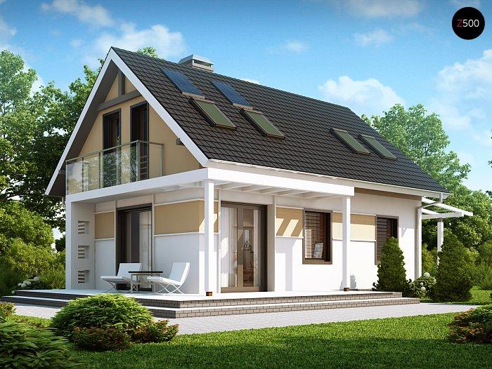 Проекта СИП дома Z216 - фото фасада