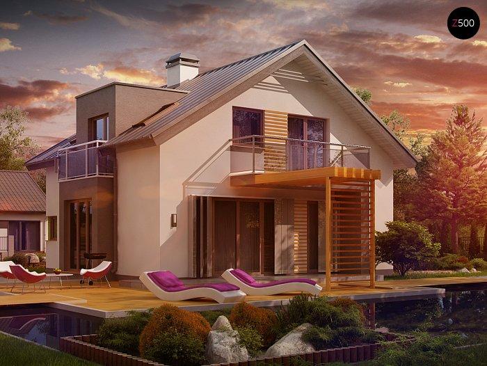 Проекта СИП дома Z245 - фото фасада